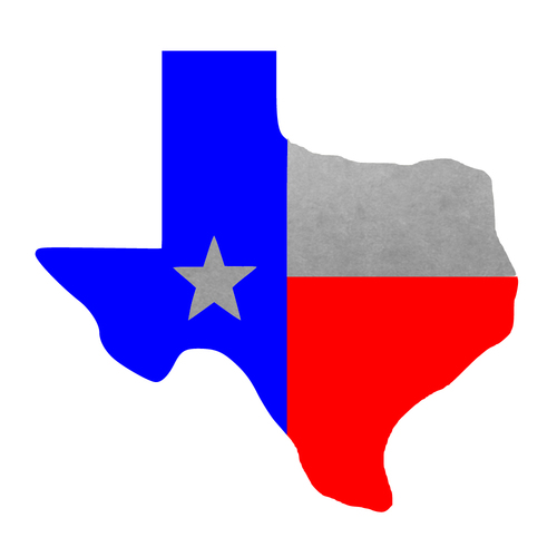 500x500 Texas Flag Metallic Temporary Flash Tattoos
