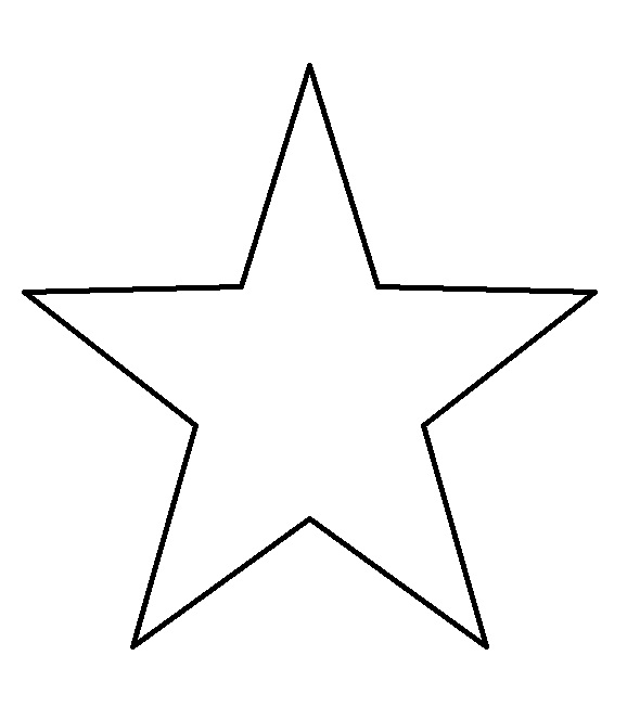 590x652 Star Outline Colouring Pages