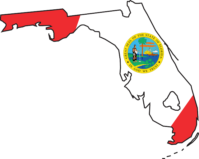 640x510 State Of Florida Outline Clip Art