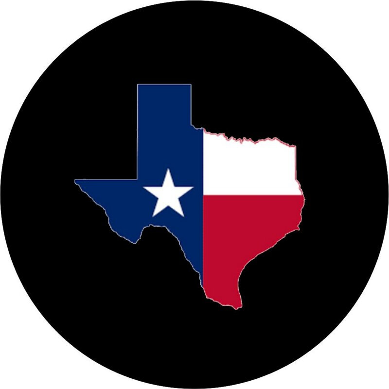 800x800 Texas Flag In Texas Outline Tire Cover