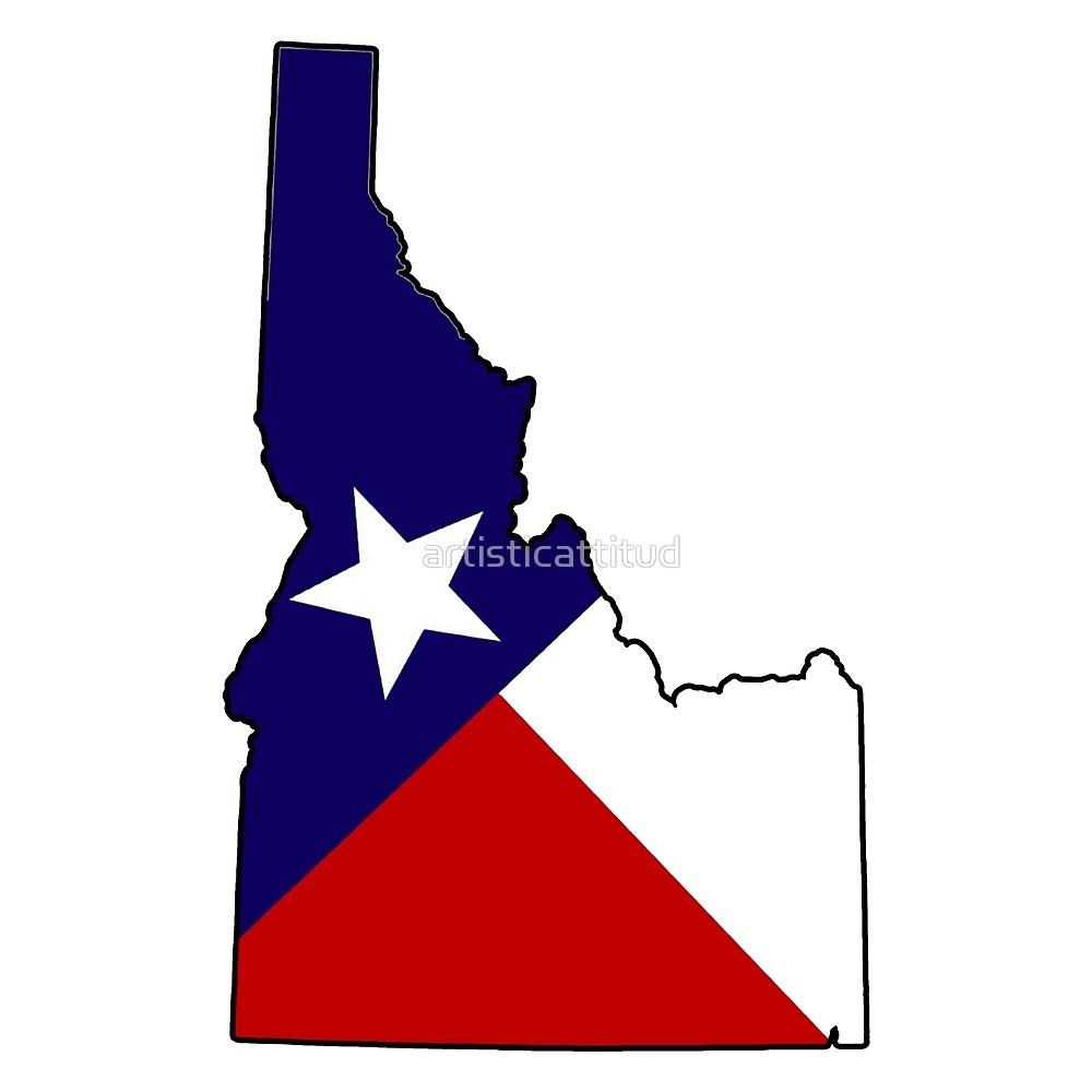 1000x1000 Texas Flag Idaho Outline By Artisticattitud Redbubble