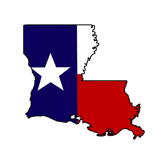 550x550 Texas Flag Louisiana Outline Posters By Artisticattitud Redbubble