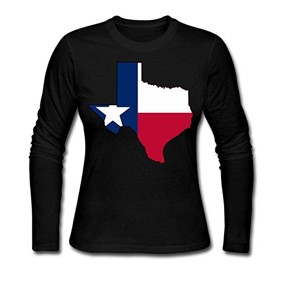 562x562 Texas Flag Outline Clipart Autumn Custom Funny Women'S
