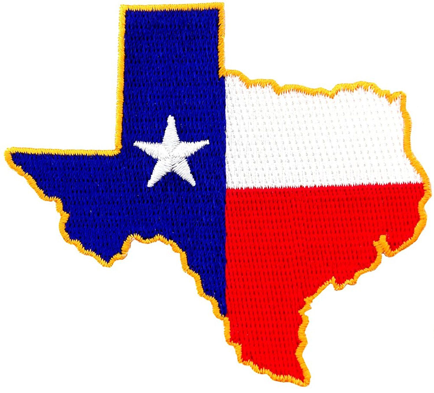 1500x1358 Texas Shape Flag Embroidered Patch Lone Star State