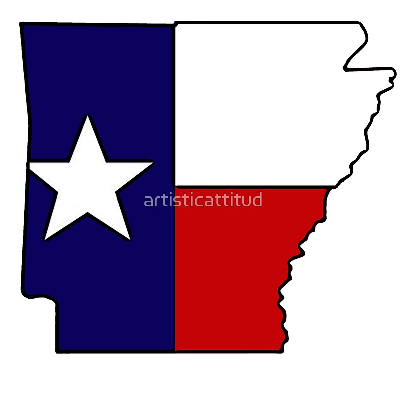 800x784 Arkansas Outline Texas Flag Stickers By Artisticattitud Redbubble