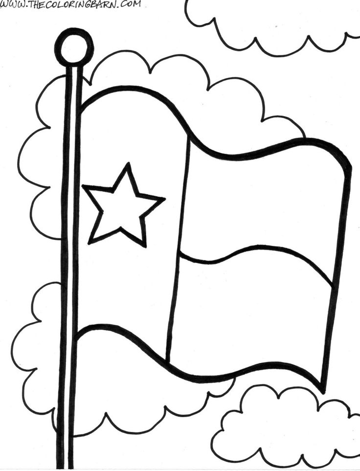 736x962 Texas Flag Coloring Page Many Interesting Cliparts