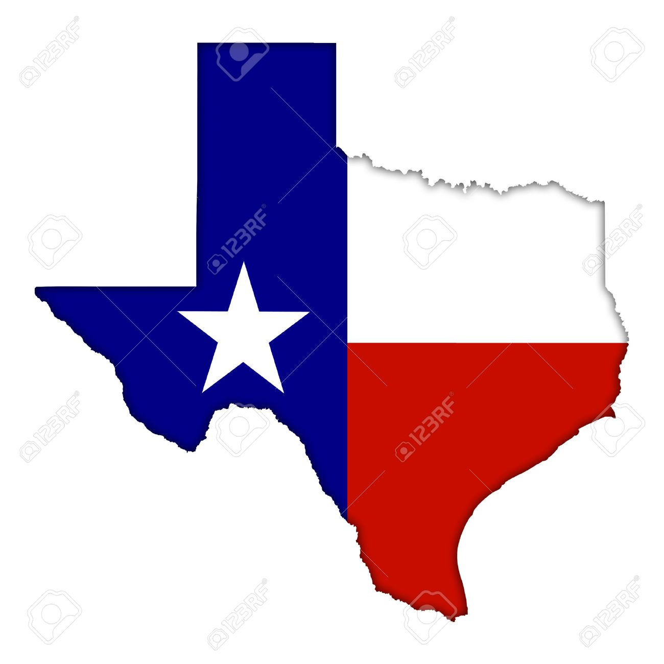 1300x1300 Texas Flag Map Icon Stock Photo, Picture And Royalty Free Image