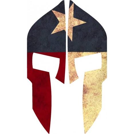 468x468 Texas Flag Spartan Reflective Rear Helmet Decal Police Fire Ems