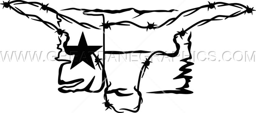825x365 Texas Flag Amp Barbwire Skull Production Ready Artwork For T Shirt