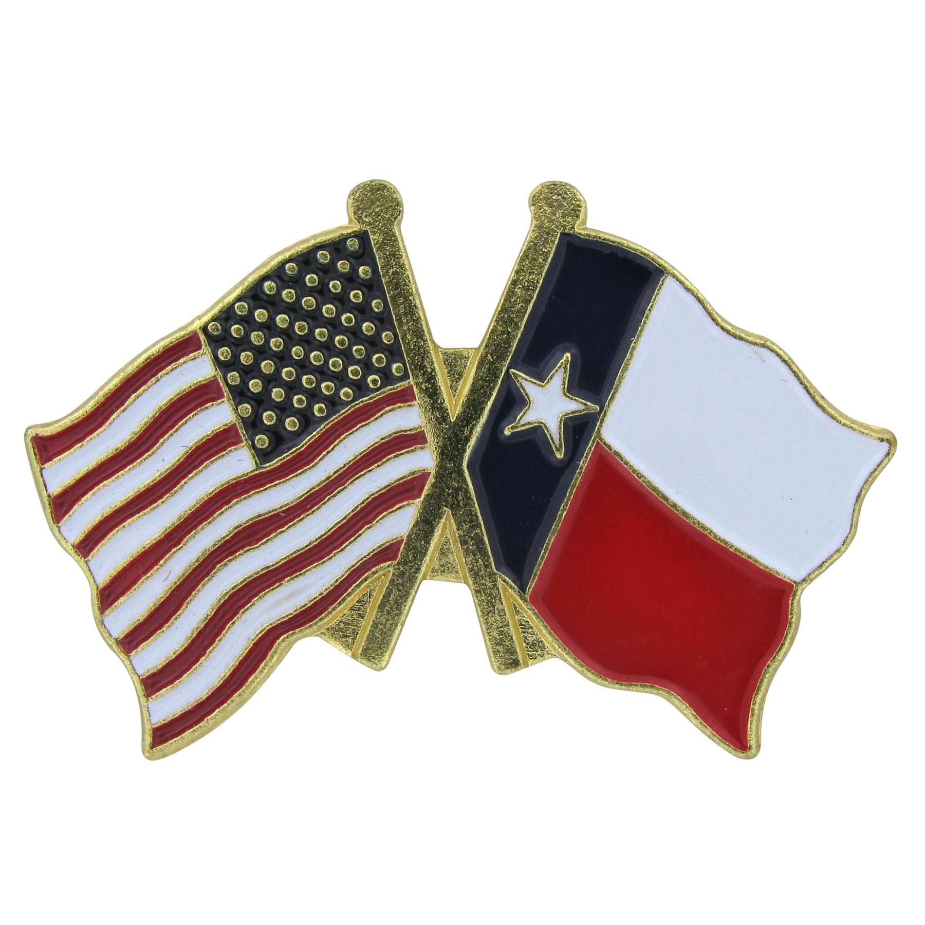 1800x1800 Usa Flag And Texas Flag Lapel Pin