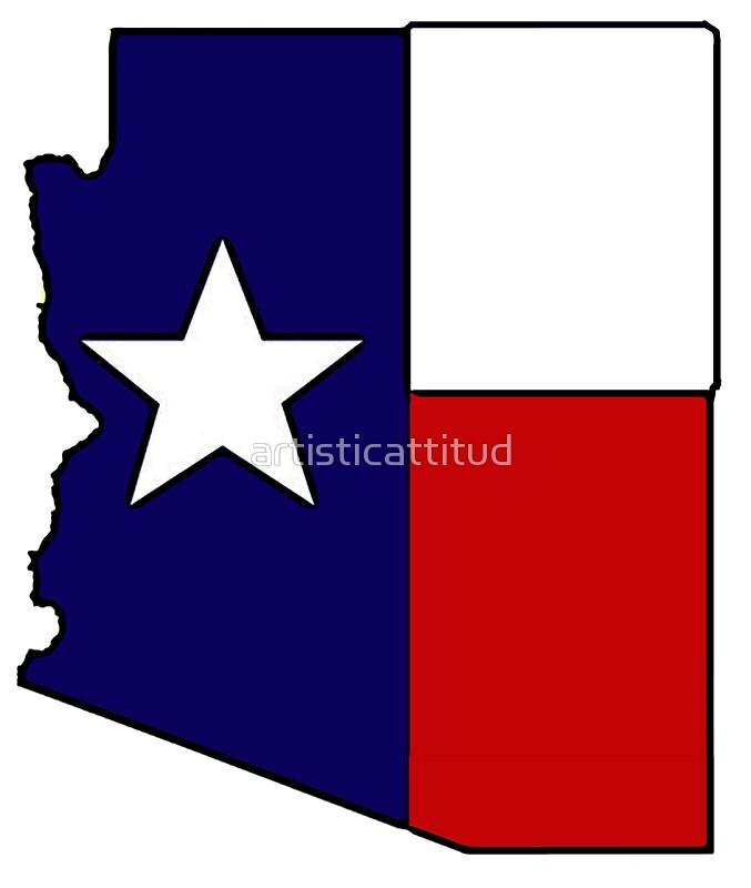 677x800 Arizona Outline Texas Flag Stickers By Artisticattitud Redbubble