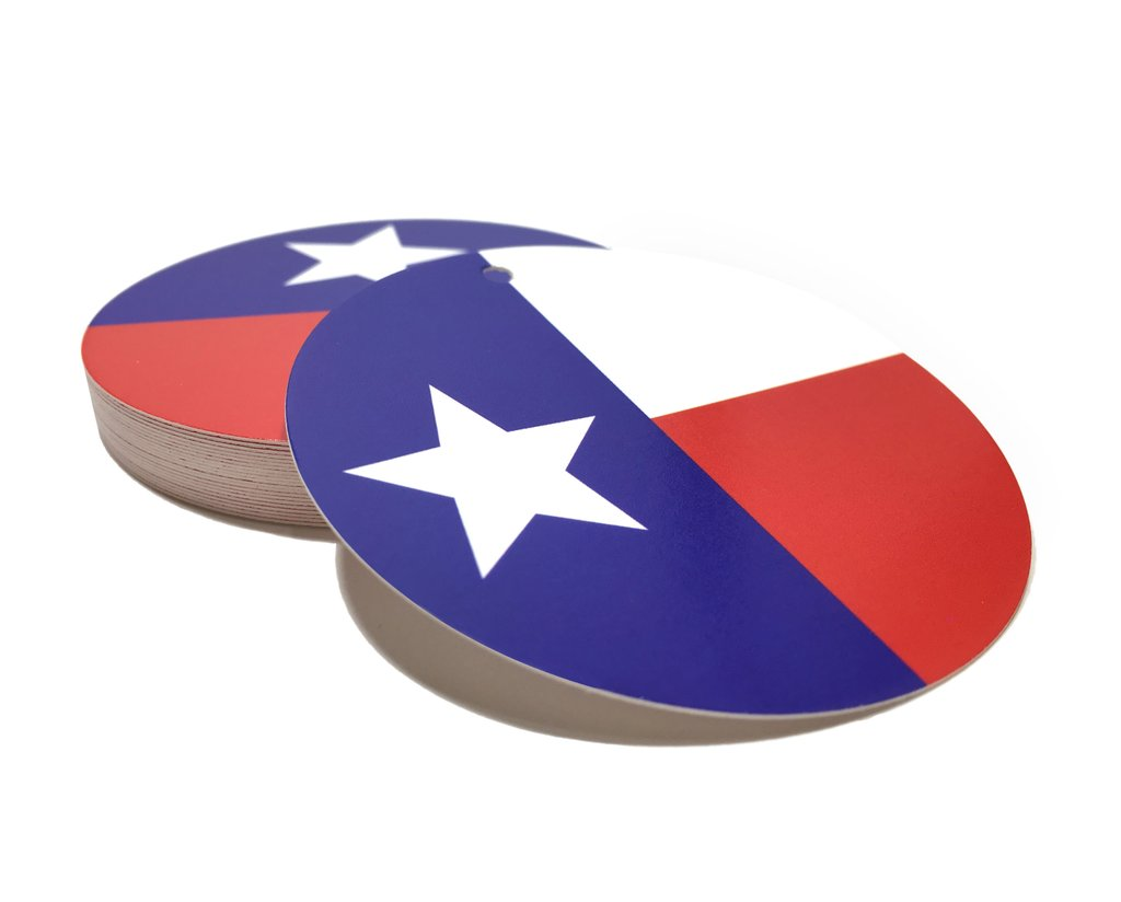 1024x824 Texas Gift Tag With Texas Flag 2.5 Inches Round Texas Hang Tag