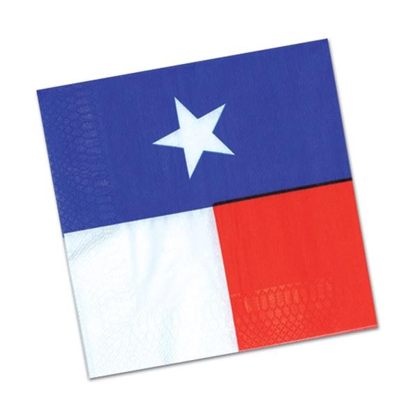 600x600 Texas State Flag Lunch Napkins (16pkg)