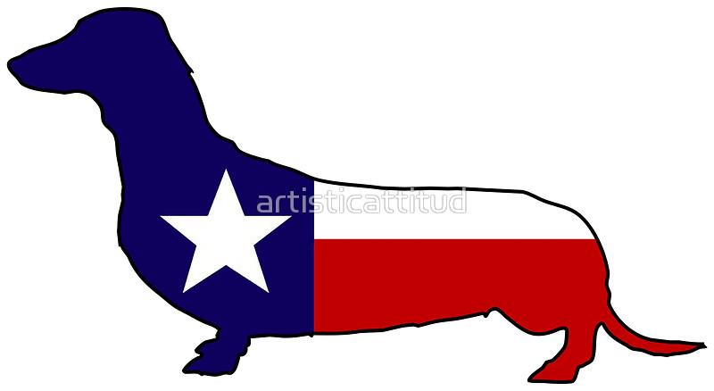 800x438 Texas Flag Dachshund Wiener Dog Stickers By Artisticattitud