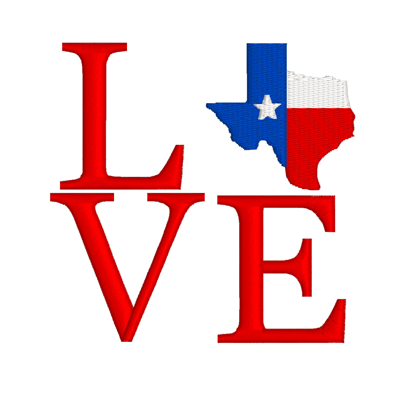 1352x1284 Buy 2 Get 1 Free Filled Texas Flag Love Machine Embroidery