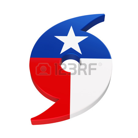 450x450 Hurricane Symbol With Texas State Flag Stock Photo, Picture