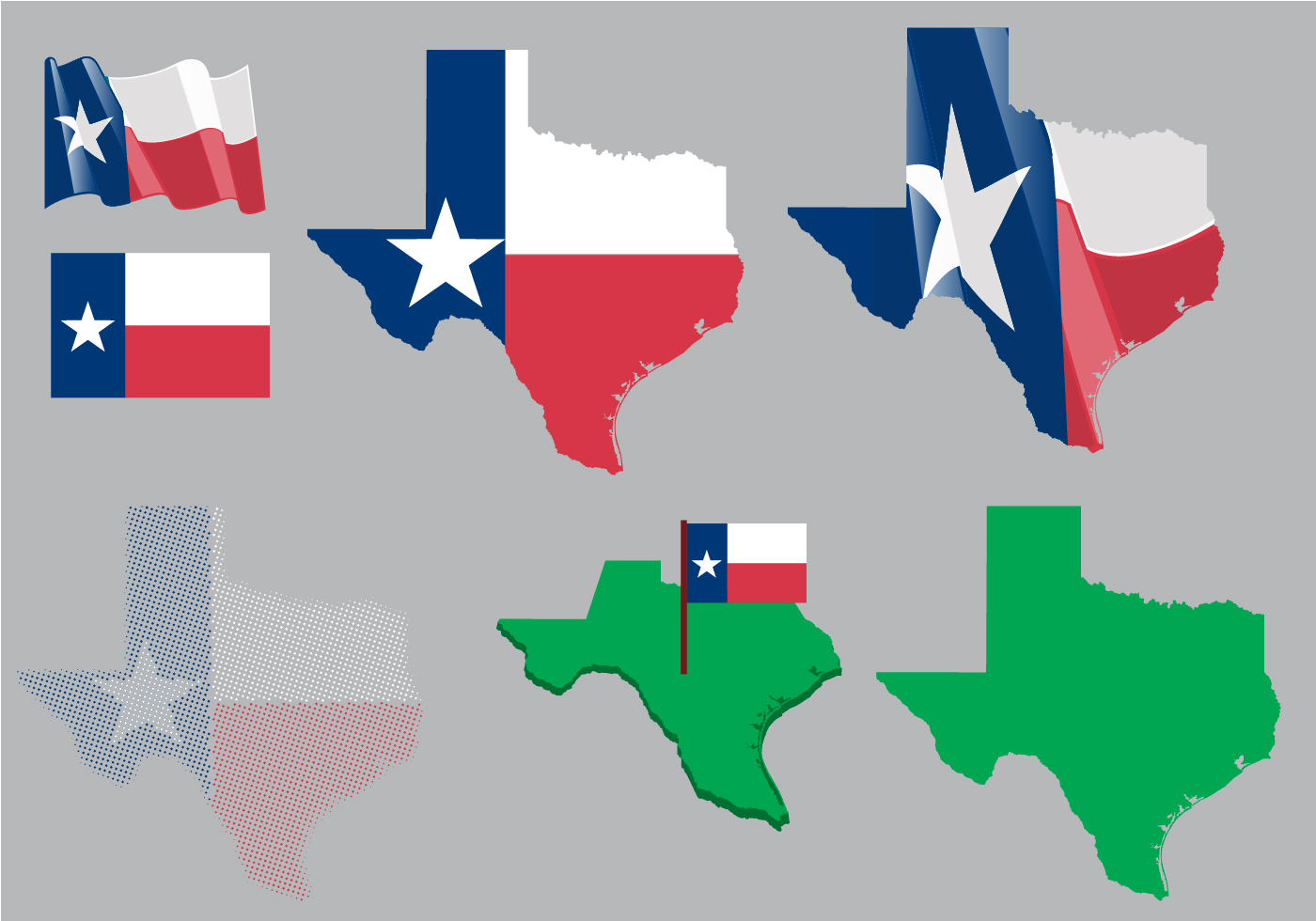 1400x980 Texas Star Free Vector Art