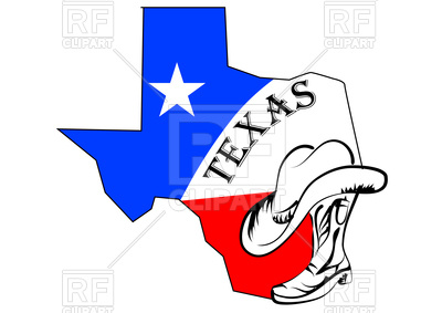 400x283 Texas Abstract Map Royalty Free Vector Clip Art Image