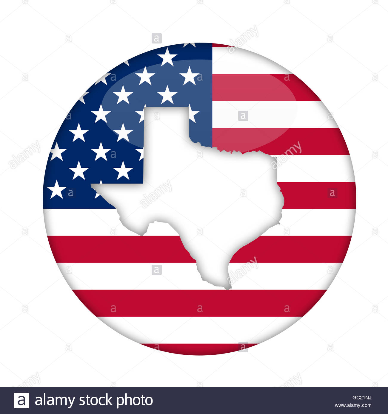 1300x1390 Texas State Of America Badge Isolated On A White Background Stock