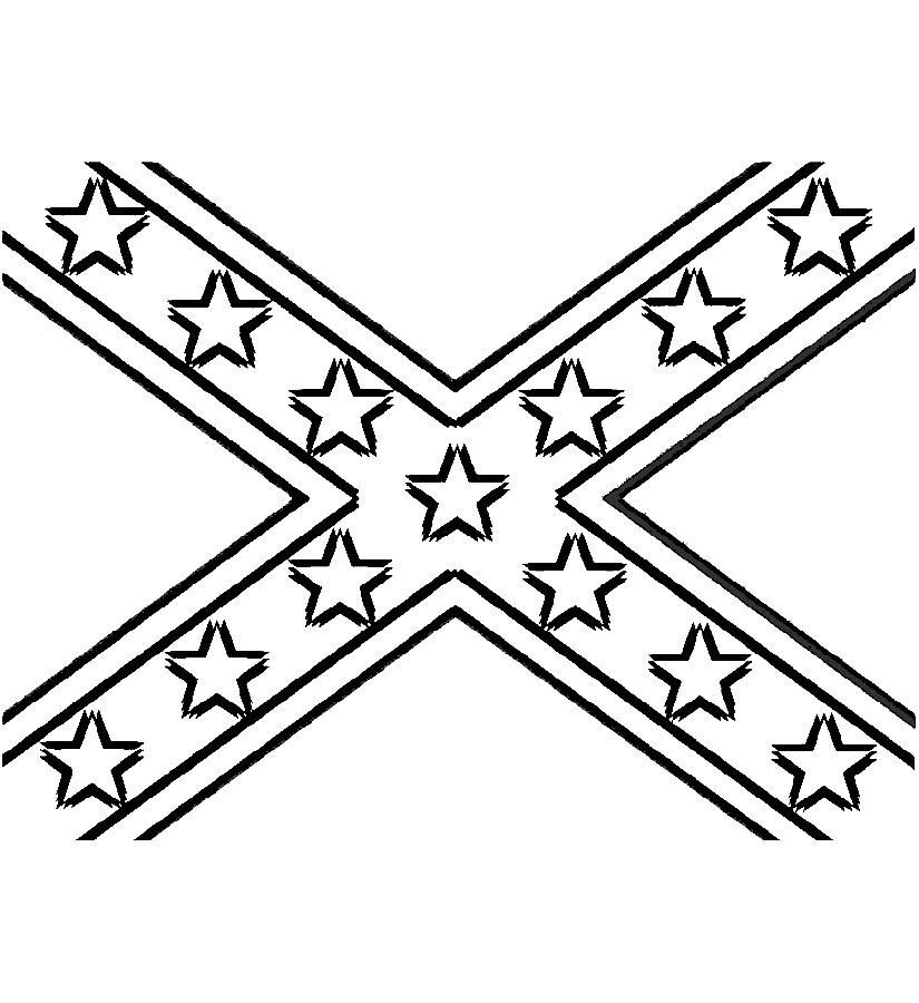 825x900 Rebel Flags Clipart