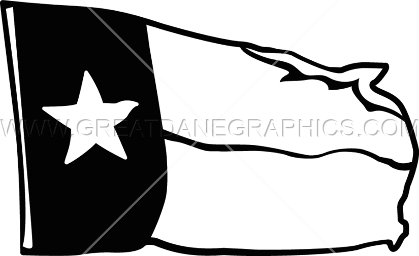 825x505 Texas Flag Production Ready Artwork For T Shirt Printing