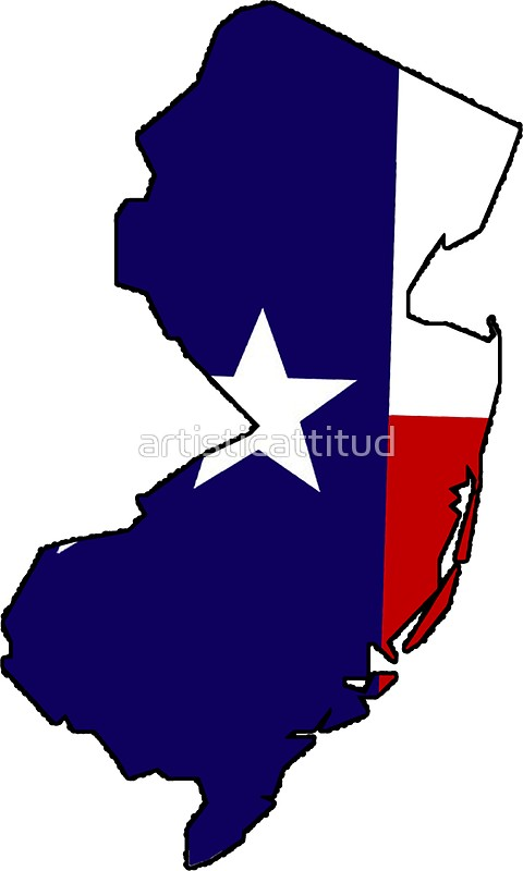480x800 Texas Flag New Jersey Outline Stickers By Artisticattitud Redbubble