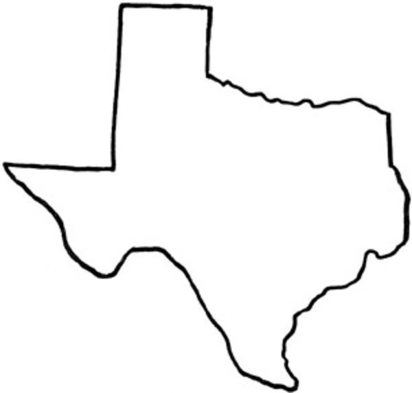 600x573 Blank Texas Flag Clipart