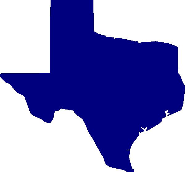 600x556 Blue Texas Clip Art