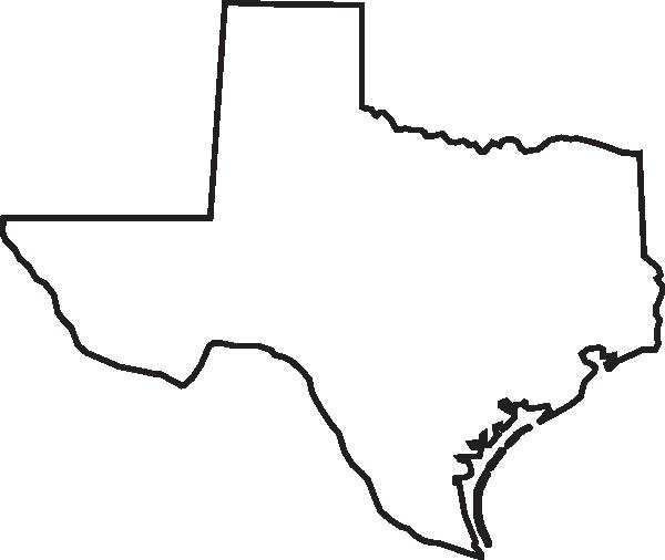 600x506 Texas Outline Clip Art