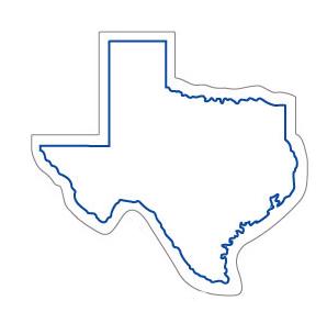 298x284 Texas Refrigerator Magnets Custom Texas Shaped Magnets