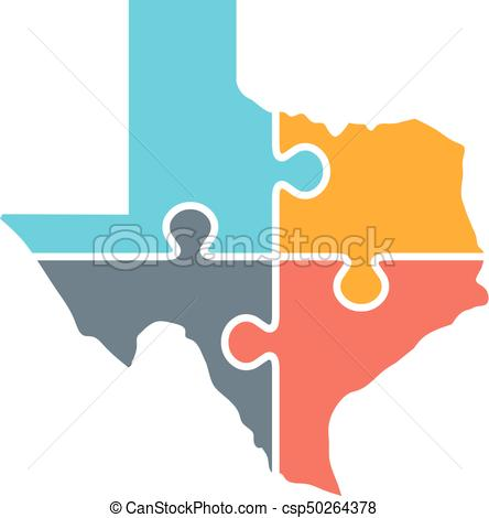 444x470 Vectors Illustration Of Texas Map Rebuild Logo Illustration