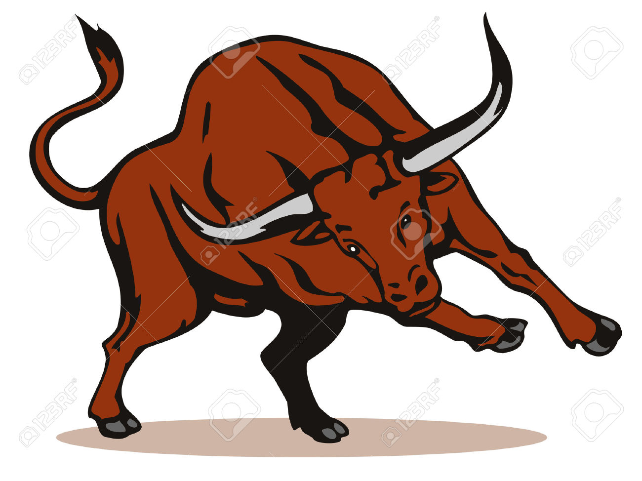 1300x974 Longhorn Cattle Clipart Toro