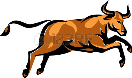450x267 Raging Texas Longhorn Bull Royalty Free Cliparts, Vectors,