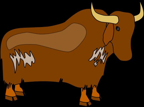 600x444 Brown Yak Clip Art