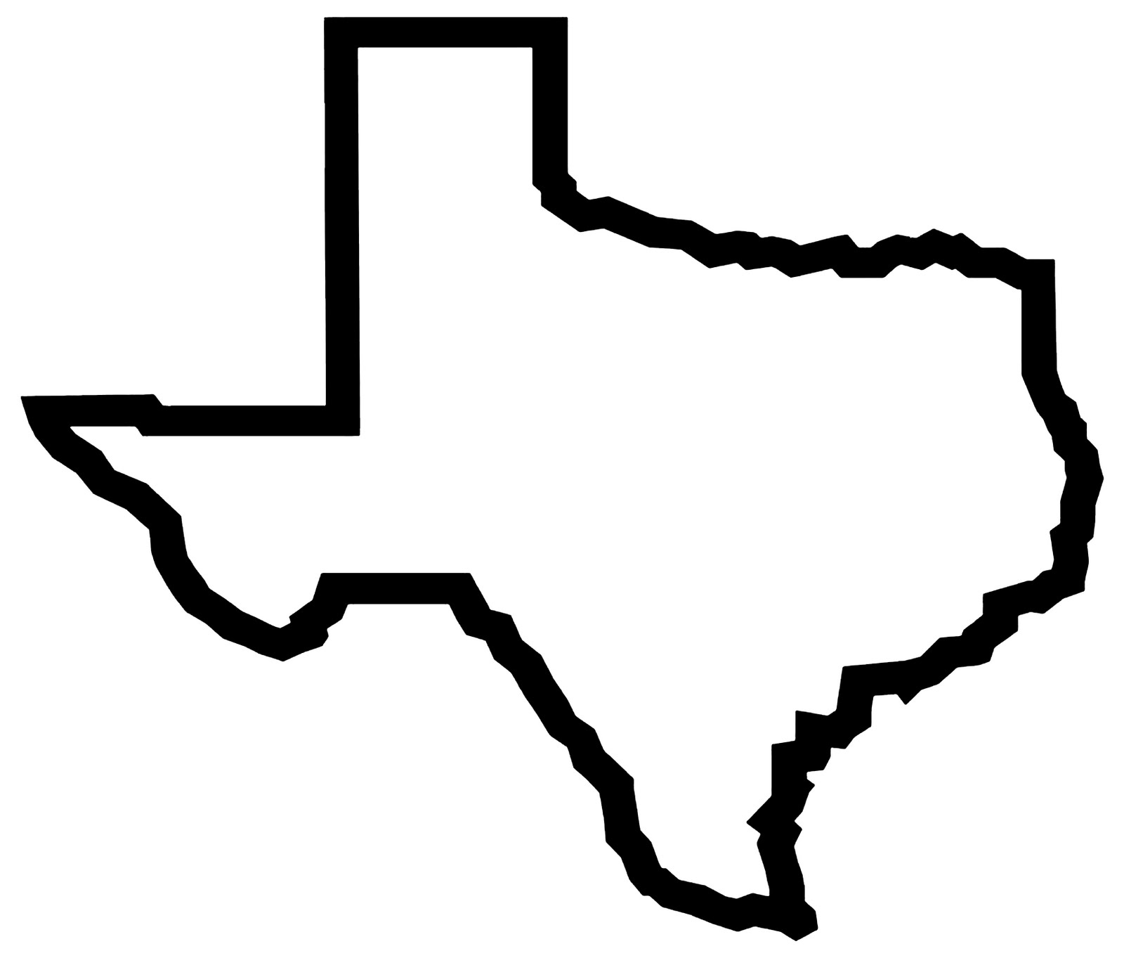 1600x1363 Outline With Longhorn Clipart