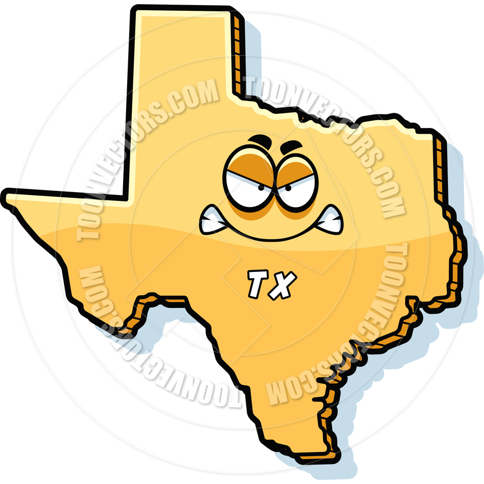 940x940 Cartoon Texas Angry By Cory Thoman Toon Vectors Eps