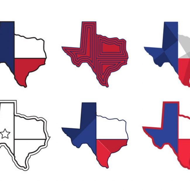 650x650 Free Vector Texas Map Vector Icons