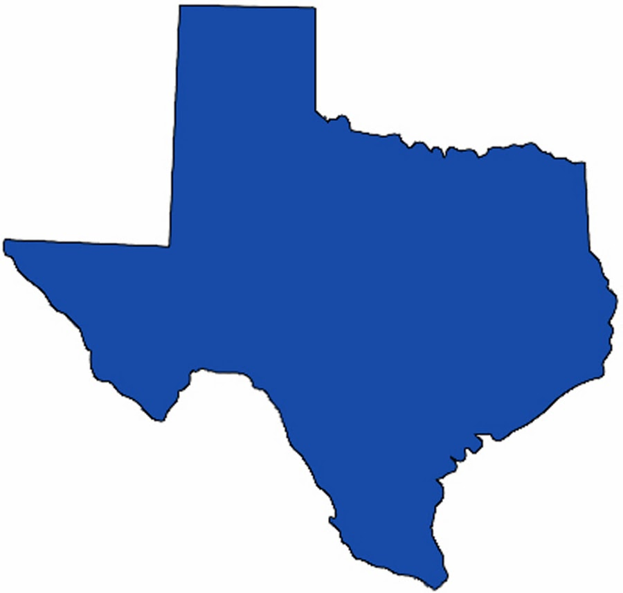 900x856 Texas State Map Clipart