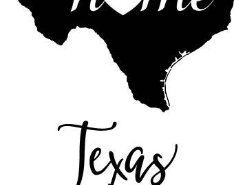340x270 Texas Map Vector Etsy