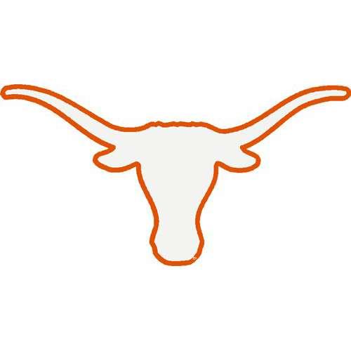 500x500 Orange Outline Texas Longhorn Clipart