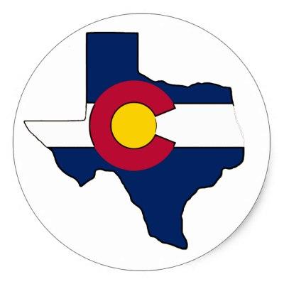 400x400 Round Texas Flag Classic Round Sticker