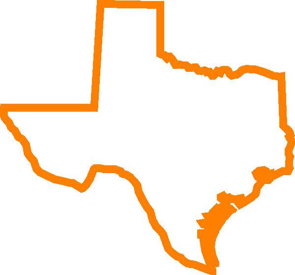 600x559 Texas Orange Clip Art