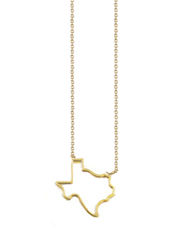 260x350 Texas Outline Necklace