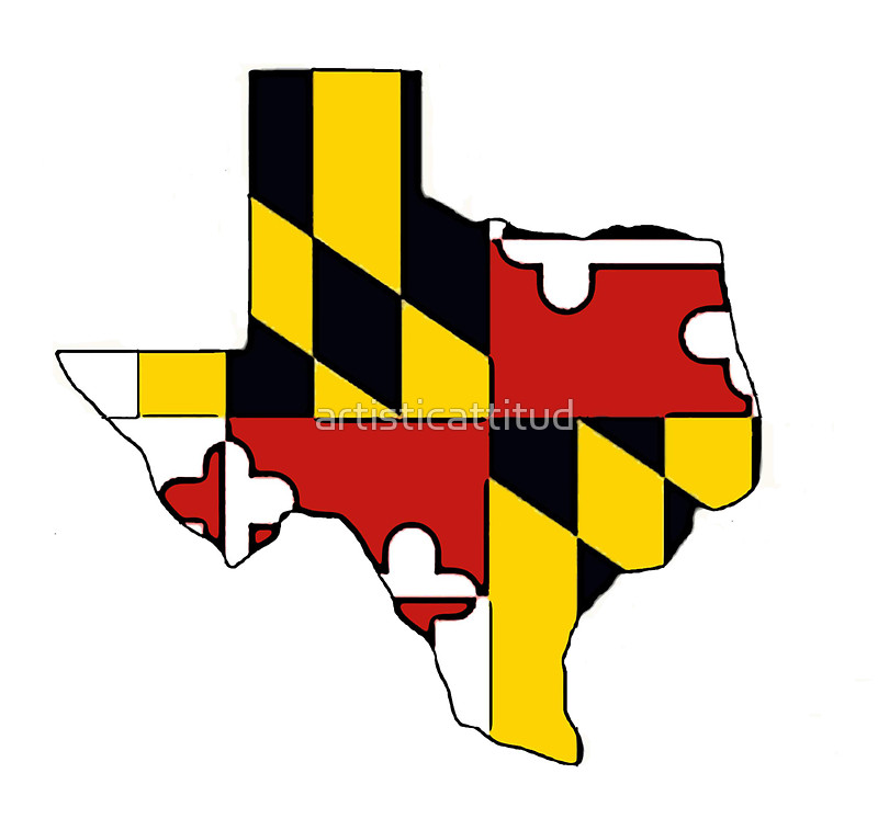 800x747 Texas Outline Maryland Flag Stickers By Artisticattitud Redbubble