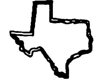 340x270 Texas Outline Clip Art 2