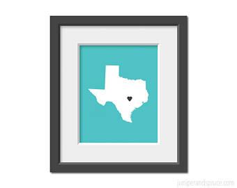 340x270 Texas Outline Print Etsy