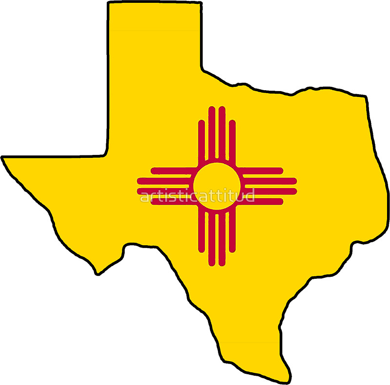 800x790 New Mexico Flag Texas Outline Stickers By Artisticattitud Redbubble