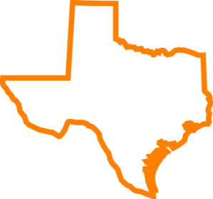 299x279 Texas Orange Clip Art