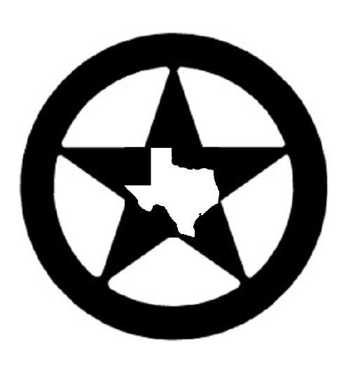 504x528 Texas Star Black And White