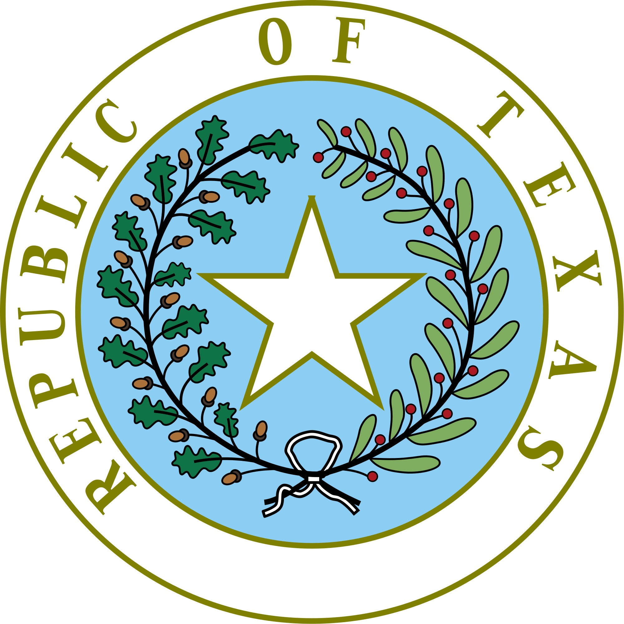 2000x2000 Republic Of Texas The Handbook Of Texas Online Texas State